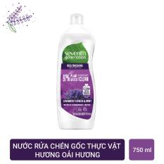 Nước rửa chén gốc thực vật Seventh Generation Lavender and Mint oải hương bạc hà – 750mL