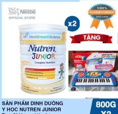 [Date 2022] BỘ 2 LON Sữa bột Nutren Junior 800g dành cho trẻ suy dinh dưỡng