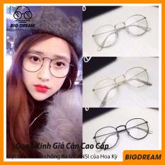 Gọng kính giả cận nam nữ cao cấp Hàn Quốc kiểu dáng Nobita – Kính cận tròn không độ mẫu đẹp lạ BDNBT – Bảo hành 12 tháng 1 đổi 1 – Tặng kèm túi đựng + Khăn lau