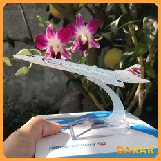 Mô Hình Máy Bay – Máy bay mô hình Concorde Vương quốc Anh British Airways đúc Kim Loại có kèm đế trưng bày