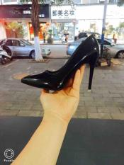 Giày cao gót bít mũi 9p