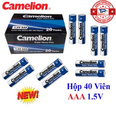 Hộp 40 viên Pin Tiểu AAA (3A) Camelion Super Heavy Duty Battery 1.5V (mẫu mới)
