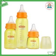 [HCM]Bình sữa WESSER cổ hẹp nano siliver kháng khuẩn 60ML/140ML/250ML