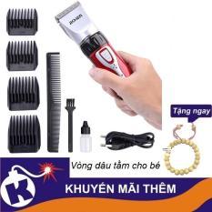Tông đơ cắt tóc gia đình Jichen JC 0817 – tặng kèm vòng dâu tằm cho bé