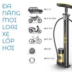 Bơm xe đạp xe máyoto cầm tay có đồng hồ đo áp xuất bơm bóng khí