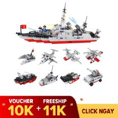 Hộp lẻ đồ chơi lego lắp ráp Tàu chiến tuần dương Lele brother 8538