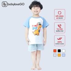 Áo thun bé trai bé gái BabyloveGo in hình khủng long chất liệu cotton sợi thoáng mát -KL001
