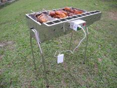 Bếp nướng than hoa TỰ XOAY, Quay cả con chim, gà, cá, sườn (THIẾT KẾ MỚI ĐỘC QUYỀN)