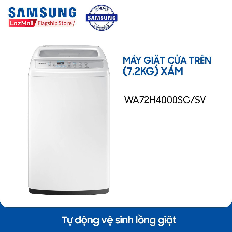 Máy giặt cửa trên Lồng giặt kim cương Samsung WA72H4000SG/SV (7.2kg) - Hàng  phân phối chính hãng giá chỉ 3.390.000₫