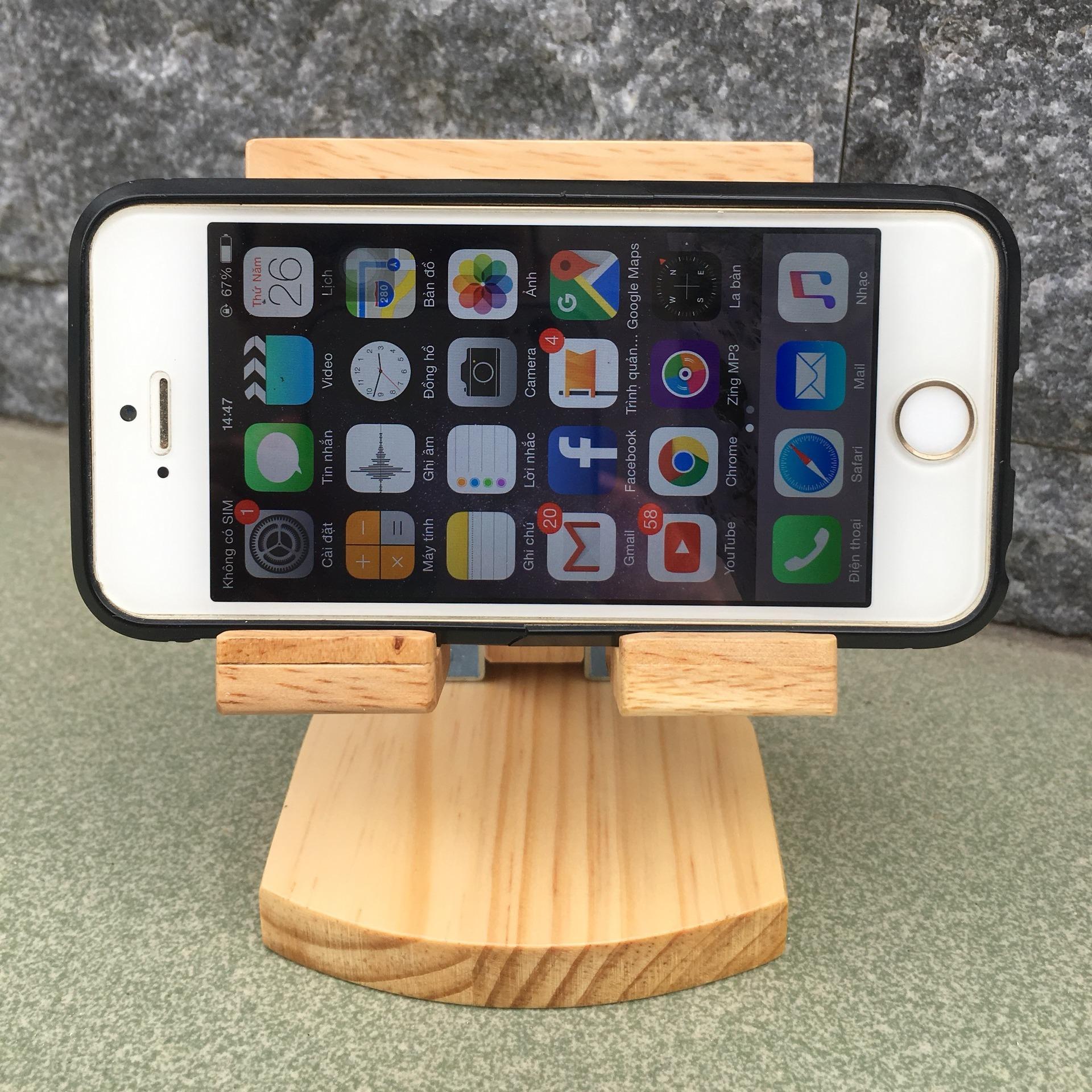 [VIDEO SP THẬT] Giá đỡ điện thoại, kệ điện thoại bằng gỗ xếp gập tiện dụng