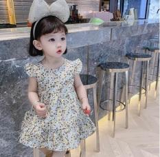 váy đầm công chúa hoa nơ lưng cao cấp cho bé gái từ 8-20kg