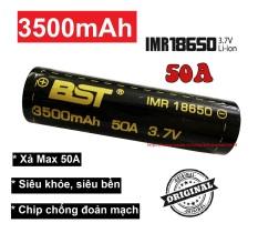 Pin 18650 sạc 3.7v 3500mah BST dòng xả Cao 50A (1 viên) dùng cho box sạc dự phòng, đèn pin, quạt sạc mini, mic Karaoke, pin laptop…..