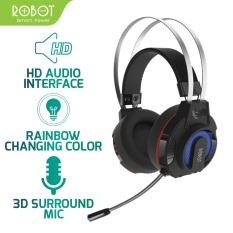 [Bảo Hành 12 tháng 1 đổi 1] Tai nghe chụp tai Gaming Robot RH-G20 âm thanh rõ nét không lẫn tạp âm , dây dù bền bỉ chống rối , co giãn tốt có đèn LED 7 màu Phù hợp cho Game thủ – ( Bảo hành 12 tháng)