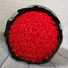 Hoa hồng sáp thơm 100 bông_quà tặng tình yêu