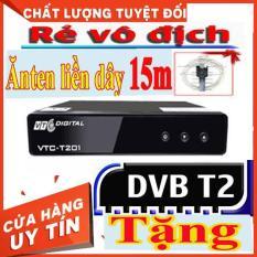 [Tặng kèm Anten] Đầu Thu Kỹ Thuật Số- Đầu Thu Truyền Hình Mặt Đất-DVB VTC T201 MÀU ĐEN Bảo hành 12 tháng