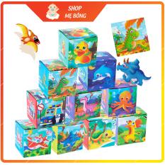 Tranh ghép gỗ 24 mảnh, đồ chơi xếp hình lắp ráp nhiều hình ngộ nghĩnh phát triển tư duy cho bé