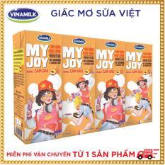 Thùng 48 hộp Thức Uống Năng Lượng Vinamilk My Joy Hương Cam Đào