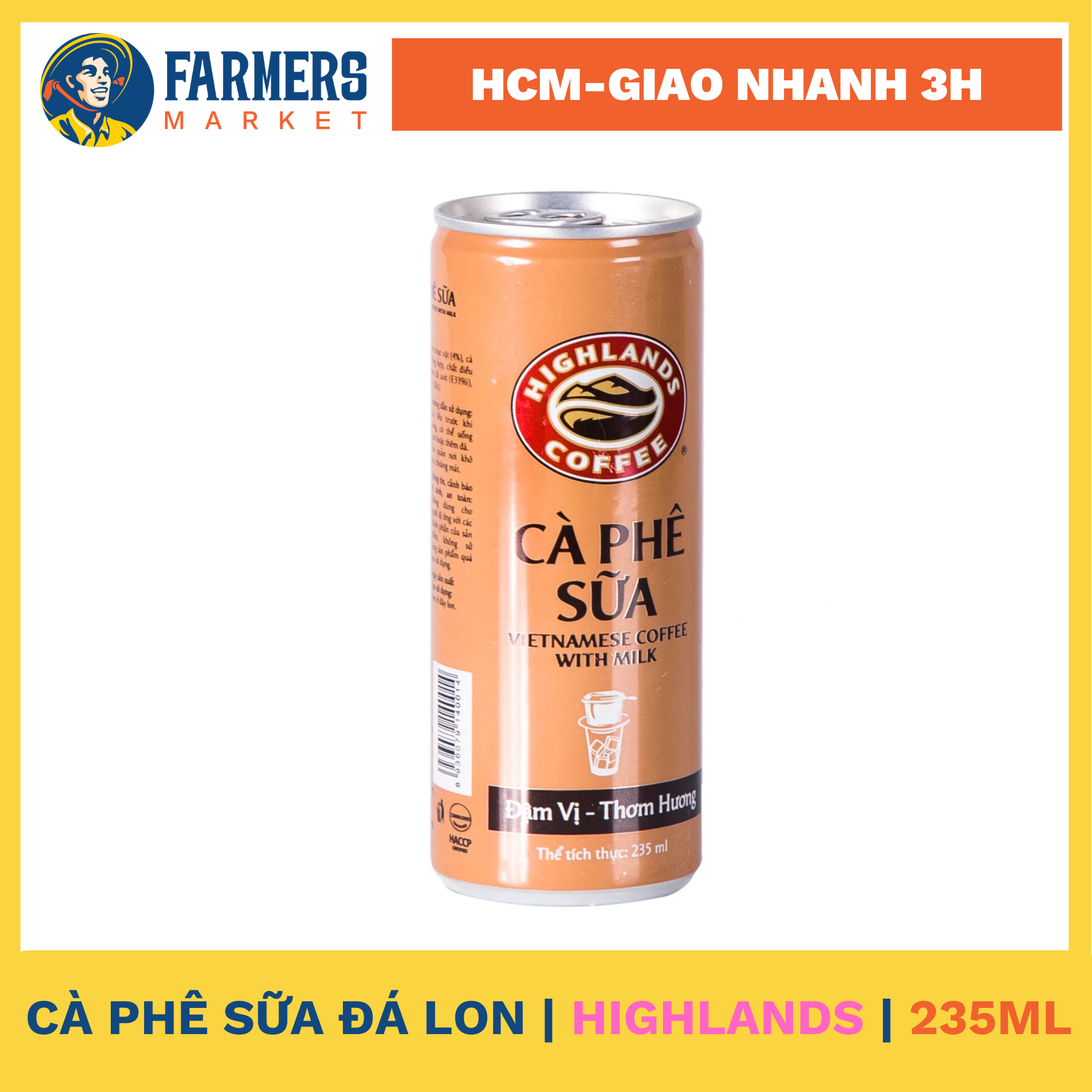 Cà phê sữa đá lon Highlands 235ml