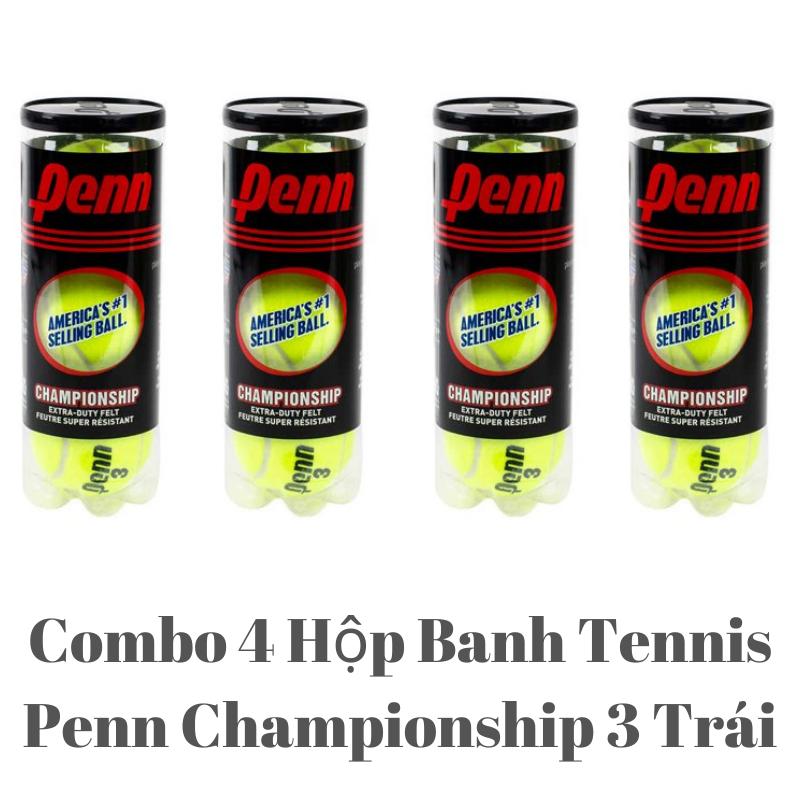 [HCM]Combo 4 Hộp Banh Tennis Penn Hộp 3 Trái