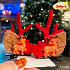 [HCM]Set 2 kẹp tóc Noel Giáng sinh sừng tuần lộc phối phụ kiện lung linh ngộ nghĩnh phù hợp để hóa trang chụp ảnh Baby-S (2pcs) – SNOEL006