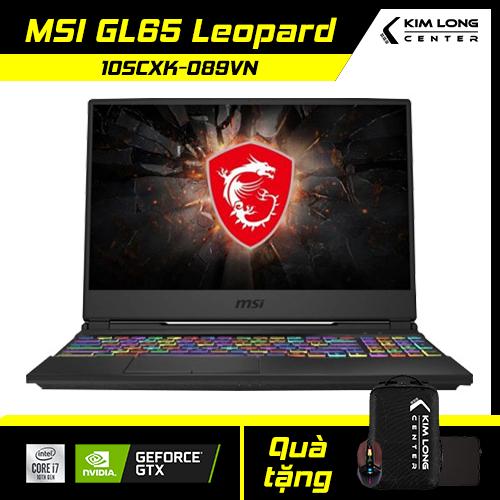 [SALE 1 TRIỆU] Laptop MSI GL65 Leopard 10SCXK-089VN : i7-10750H | 8GB RAM | 512GB SSD | GTX 1650 4GB + UHD Graphics 630 | 15.6 FHD 144Hz | Win 10