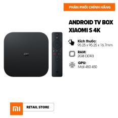 Android TV Box Xiaomi S 4K (3840 x 2160) – CPU 4 nhân, RAM 2GB, Bộ nhớ 8GB – Kết nối Wifi, Bluetooth 4.2, HDMI – Hàng chính hãng