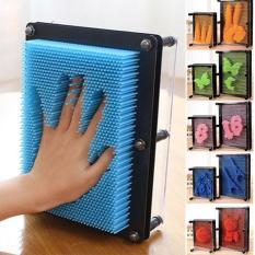 Bộ tạo hình 3D thông minh Pinart , đồ chơi Pinart 3D, khắc chữ, in dấu vân tay (đồ chơi trí tuệ, đồ chơi thông minh)-Size lớn 18cm, hình chữ nhật