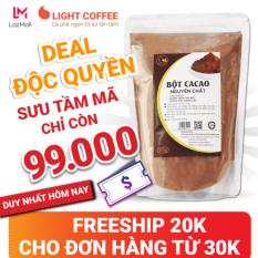 [LIGHT DEAL 24H] Bột cacao cao cấp Light Coffee , 100% nguyên chất, không pha trộn tạp chất , dễ tan, đậm đà – Gói 500g