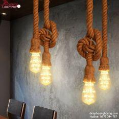 Đèn thả: Đèn thả dây thừng đôi mỗi dây 1,5m (Chưa bóng)