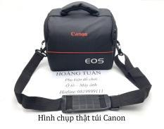 Túi chống sốc máy ảnh DSLR ngang đeo hông trơn loại 1 có ngăn phụ vách dầy