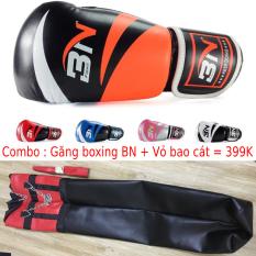 Vỏ Bao Cát Đấn Bốc Boxing + Găng MMA Hở Ngón Walon + băng đa Hoặc Găng tay đấm bốc BN – Thiết bị tập luyện võ thuật chuyên nghiệp