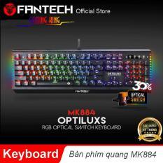 Bàn phím chơi game phím quang Optical Led RGB chống nước, chống bụi, chống mài mòn Fantech MK884 – Hãng Phân Phối Chính Thức