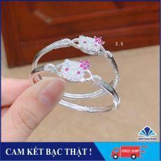 Lắc tay bạc Hello Kitty cho bé gái