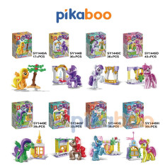 Đồ chơi Xếp hình Ngựa Pony Pikaboo, Bộ lắp ráp 17-43 miếng ghép, chất liệu nhựa bền bóng, chắc khỏe, an toàn