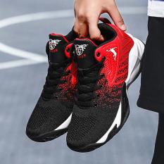 Giày bóng chuyền nam – Giày bóng rổ nam – Giày sneaker giày thể thao nam đế cao chuyên nghiệp JY HAMISHU mầu đỏ đen