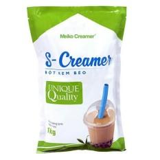 Bột kem béo pha trà sữa đài loan S-Creamer screamer Gói 1kg bột sữa, pha trà, trà sữa, làm bánh, sữa béo nhãn xanh