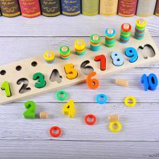 Bảng gỗ ghép số hoặc hình cho bé (2 mẫu số hoặc hình)