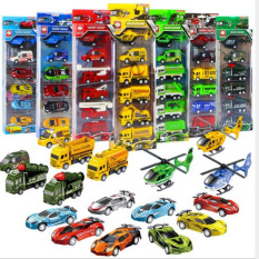 Bộ 6 món ô tô đồ chơi máy bay chạy đà cho bé – Đồ chơi mô hình sưu tập RF300
