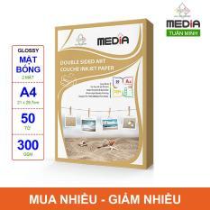 Giấy In Ảnh Media 2 Mặt Bóng (Glossy) A4 (21 x 29.7cm) 300gsm 50 tờ – Hàng Nhập Khẩu