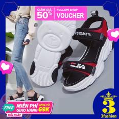 Giày Sandal Nữ 2 Quai Đế Gấu 3Fashion Quai Dan Chắc Chắn – 3136