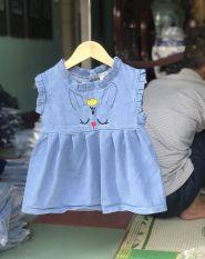váy jean thỏ bé yêu