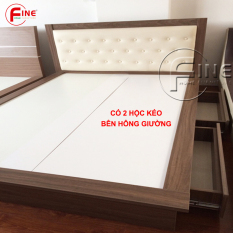 Giường Nhật có 2 Hộc Kéo FINE FG006 (160cm x 200cm) Thiết kế hiện đại sang trọng, phù hợp style tối giản