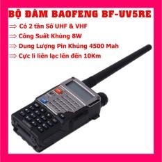 Bộ đàm Baofeng BF-UV5RA / BF-UV5RE Công Suất 8W có 2 tần số UHF&VHF Dung lượng Pin lên đến 4500 mah Cực li liên lạc lên đên 10 KM