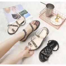 Sandal đính đá kẹp ngón