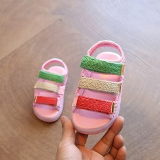 Giày sandal khóa dán năng động cho bé có đèn LED