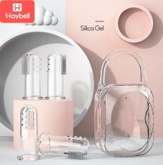 [HỘP 4 CHIẾC] Bàn chải đánh răng cho bé Hoybell silicon,chuyên dùng cho răng sữa, chính hãng có Barcode siêu thị, không chứa BPA