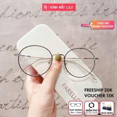 Gọng kính kim loại nữ mắt tròn Lilyeyewear 72323 nhẹ nhàng thanh mảnh giúp người đeo thoải mái phù hợp với nhiều khuôn mặt gọng kính có nhiều màu một size kèm quà