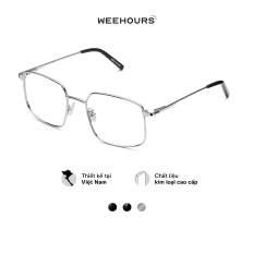 Gọng kính cận nam/nữ WeeHours SLEEK, dáng vuông thời trang, chất liệu kim loại không gỉ