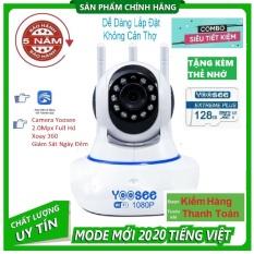 (TẶNG THẺ YOOSEE 128 GB TRỊ GIÁ 450K,1 Đổi 1 trong vòng 1 năm )Camera WiFi , Camera Trong nhà, ngoài trời SIÊU SẮC NÉT FULL HD 3.0 Mpx 1920 X 1080P,GHI ÂM, GHI HÌNH,(Lưu ý : có 2 mã đã kèm thẻ và chưa kèm thẻ)