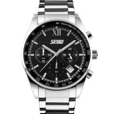Đồng hồ nam dây thép không gỉ SKM 9096 (Bạc mặt tím)